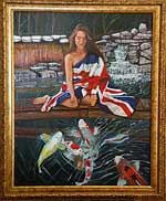 Kimmy-Koi Art--The Union Jack Painting